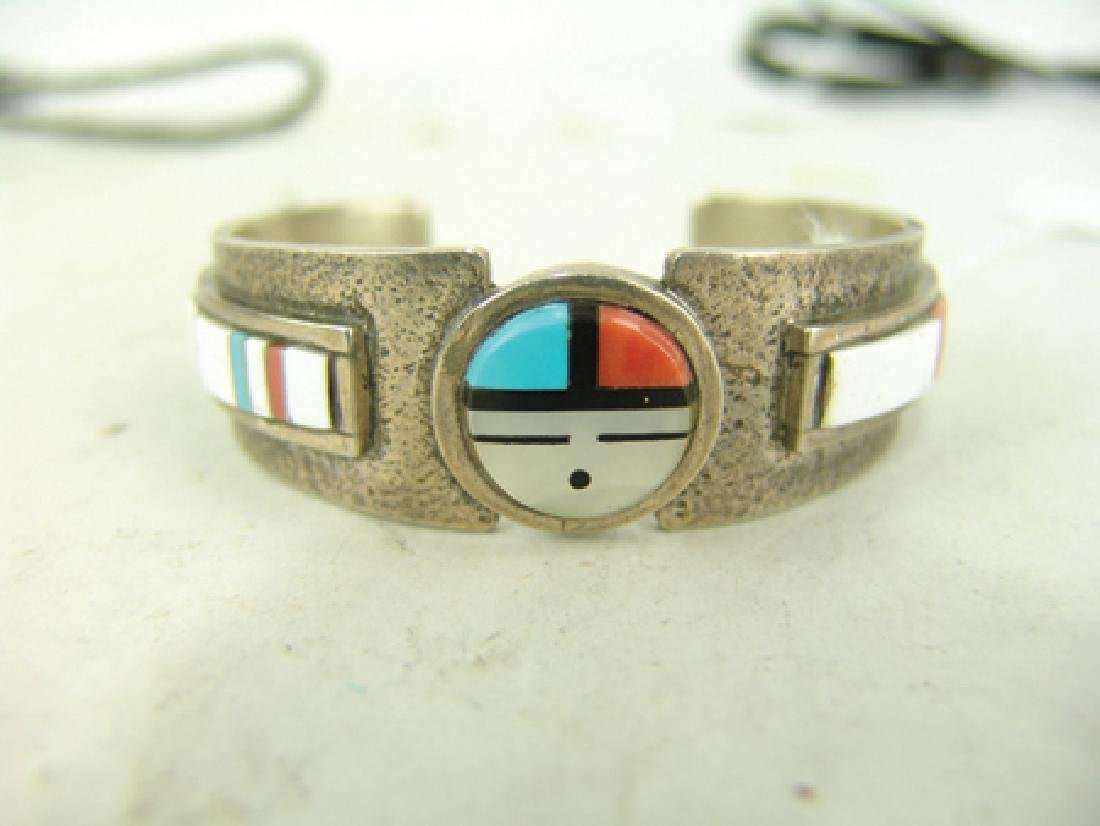 Zuni Inlay Bracelet - Myron Panteah - 3