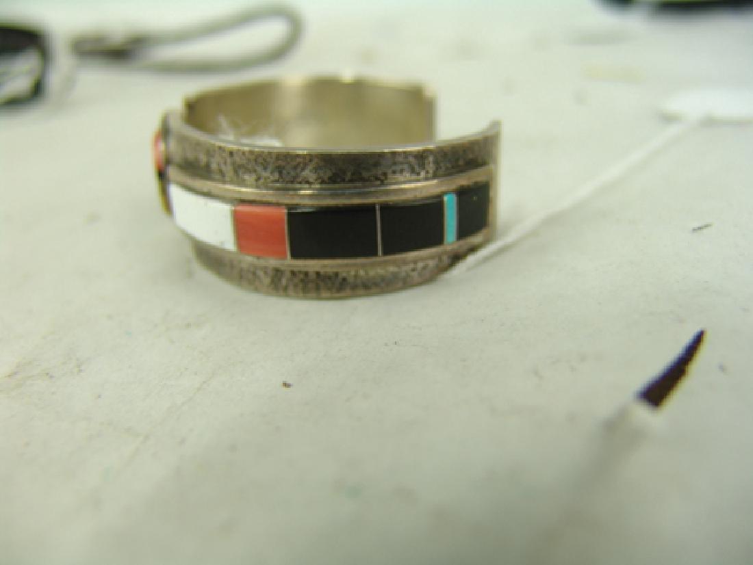 Zuni Inlay Bracelet - Myron Panteah - 4