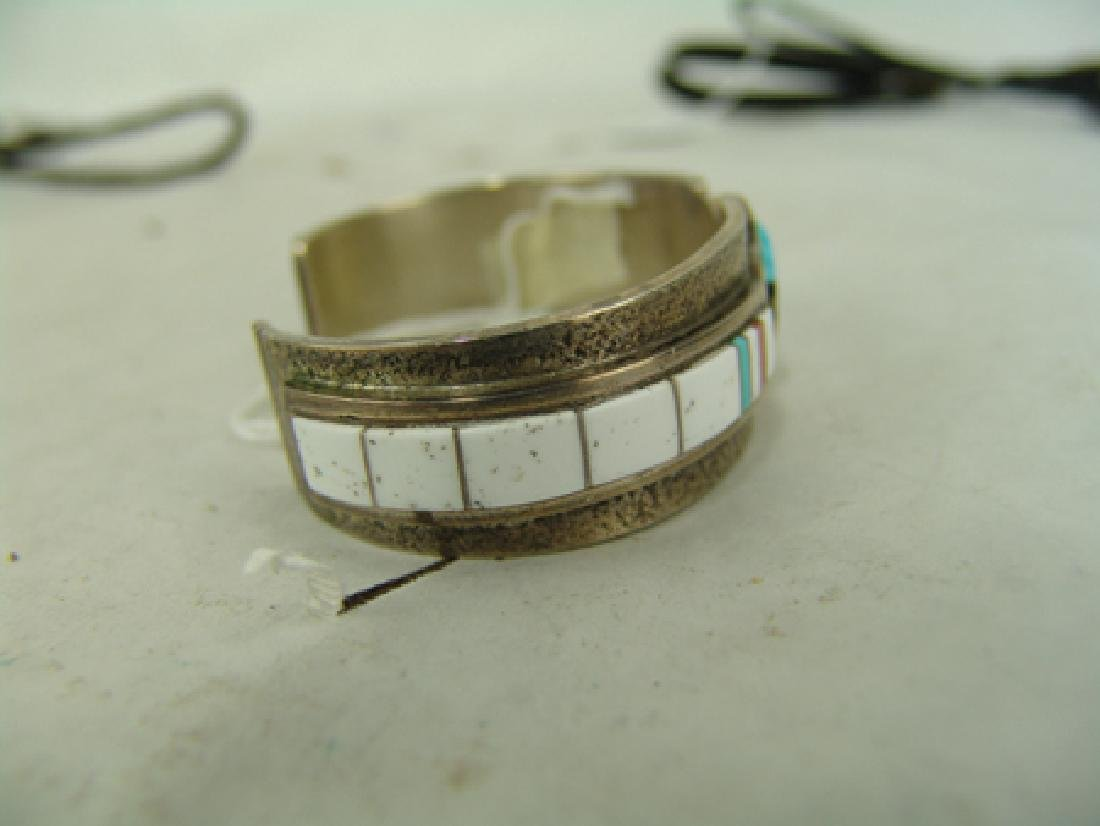 Zuni Inlay Bracelet - Myron Panteah - 5