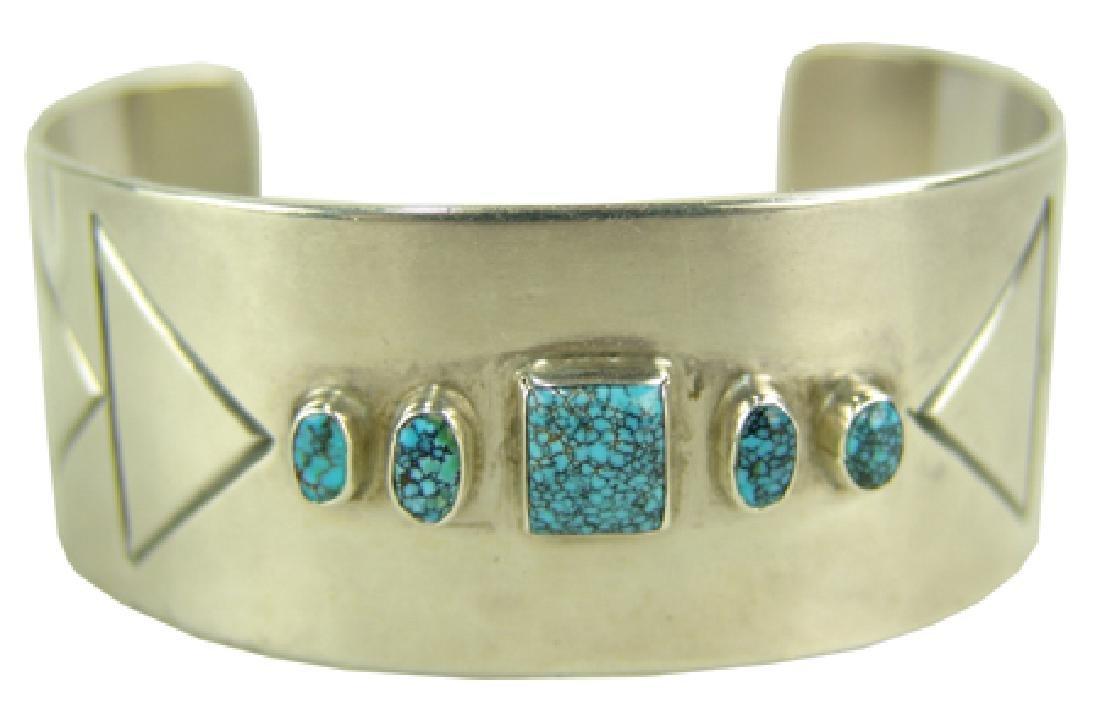 All-Silver Cuff Bracelet