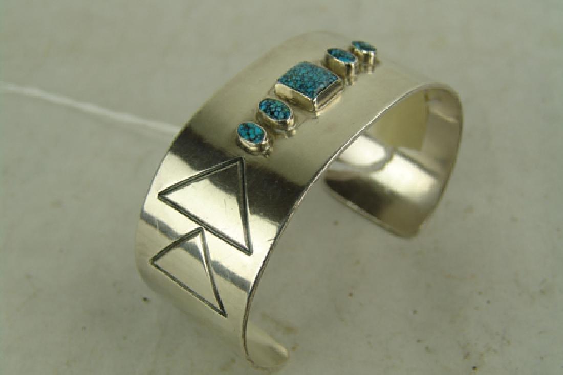All-Silver Cuff Bracelet - 2