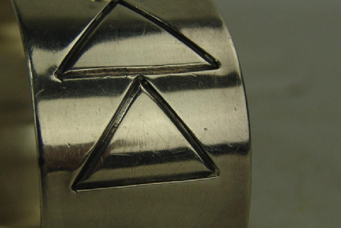 All-Silver Cuff Bracelet - 5