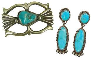 Navajo Buckle & Earrings