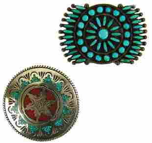 2 Turquoise Pins