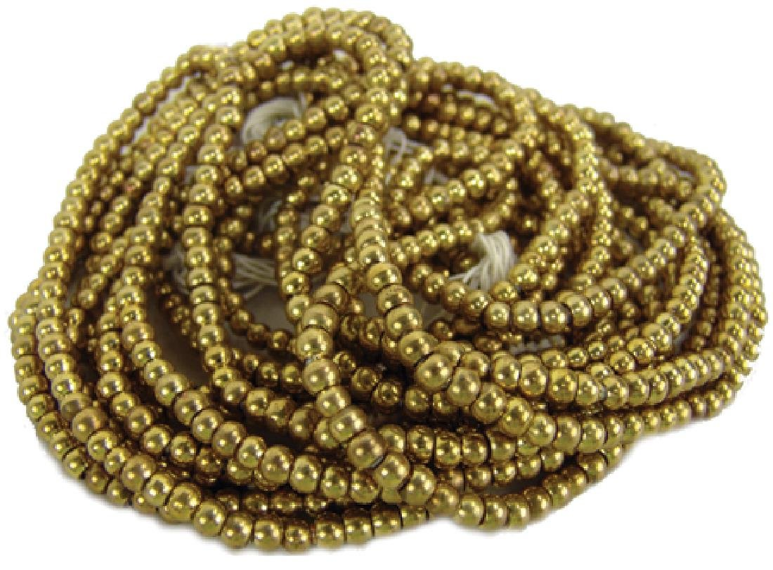 Solid French Brass Beads