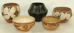 5 Pueblo Pottery Items