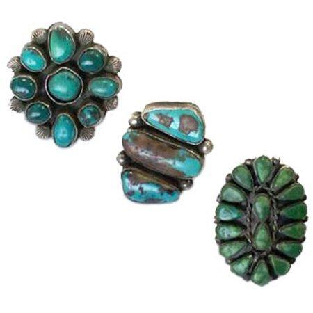 3 Vintage Navajo Rings