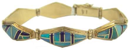 Navajo Gold Bracelet - Julian Arviso