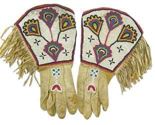 Blackfoot Beaded Gauntlets