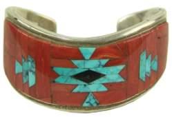 Zuni Inlay Bracelet  Tommy Jackson