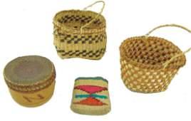 4 Miniature Baskets