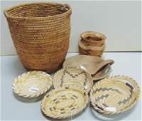 Basketry Box Lot