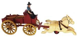 Cast Iron Toy Cart
