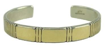 Navajo Gold & Silver Bracelet - Julian Nez