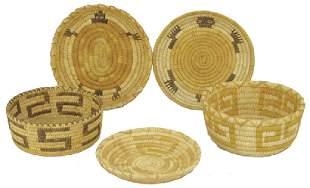 5 Papago Baskets