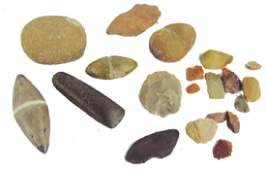 Group of Stone Items