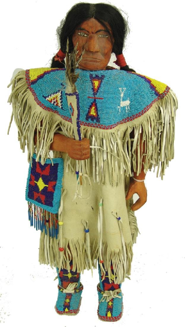 Wooden Indian Doll