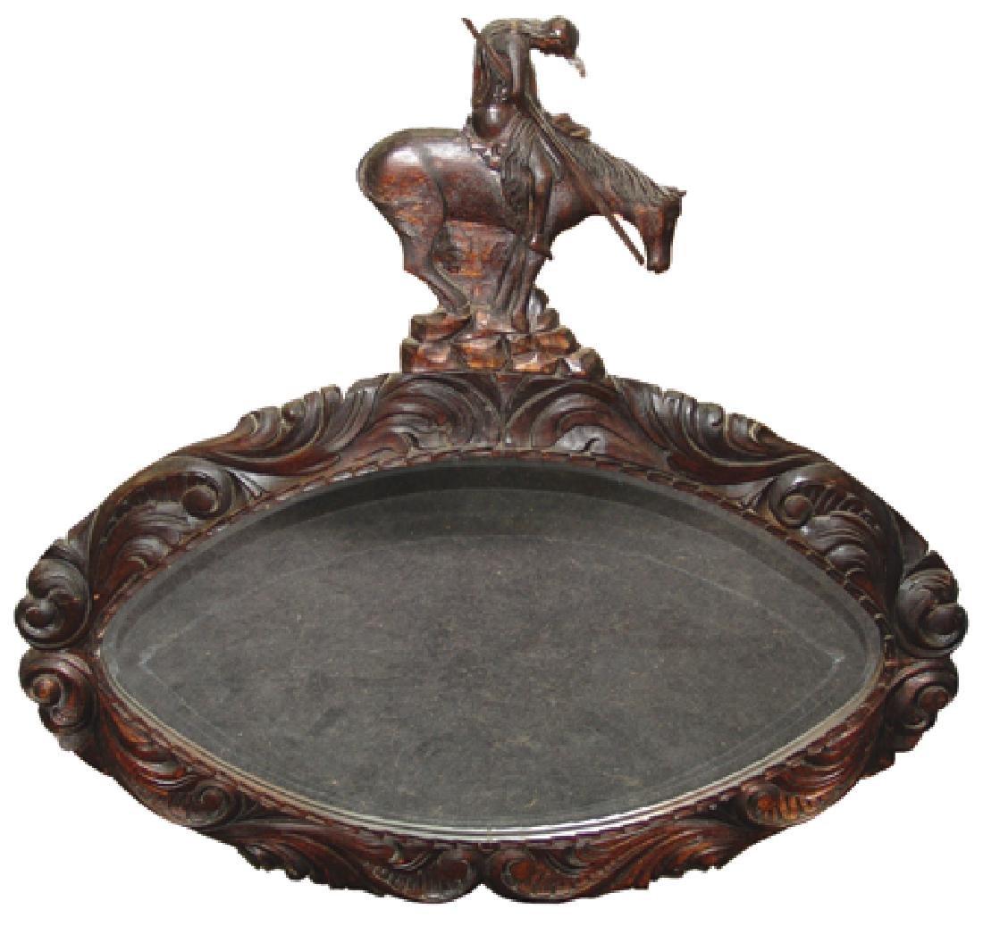 Antique Mirror In Carved Frame
