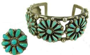 Navajo Bracelet Ring Set
