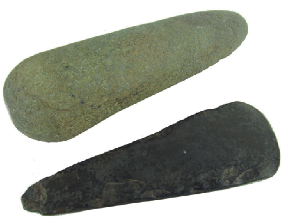2 Stone Axe Heads