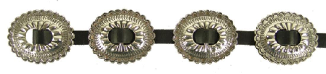 Nickel Silver Concho Belt