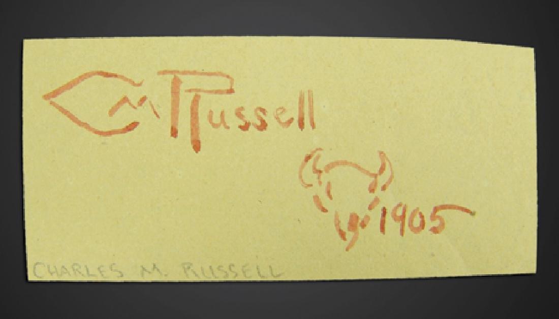 C.M. Russell Signature