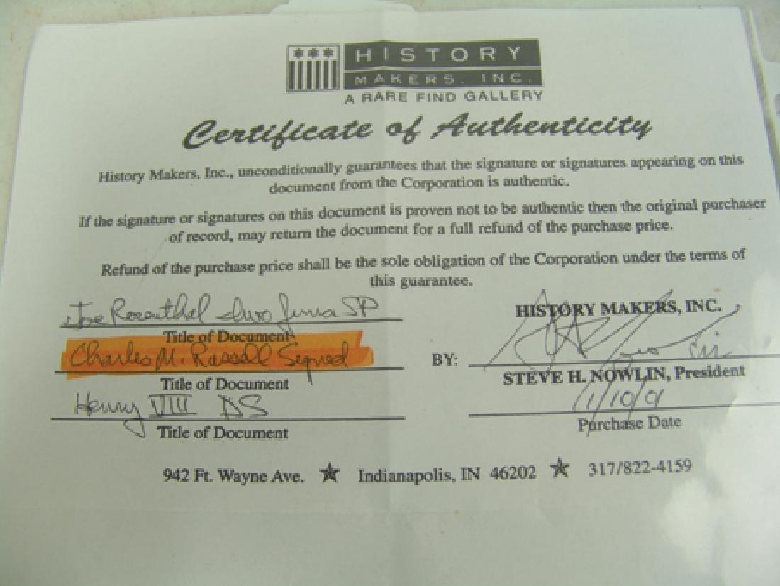 C.M. Russell Signature - 5