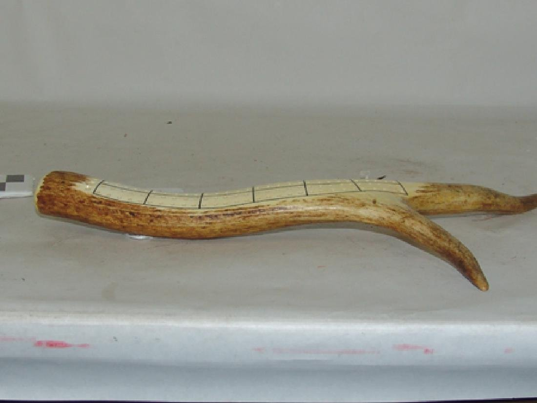 Deer Antler Cribbage Board - J.E.R. - 4