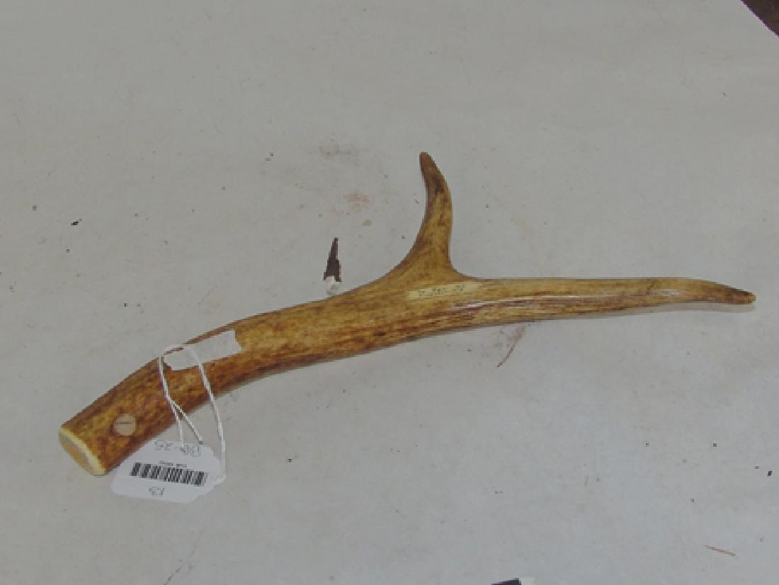 Deer Antler Cribbage Board - J.E.R. - 7