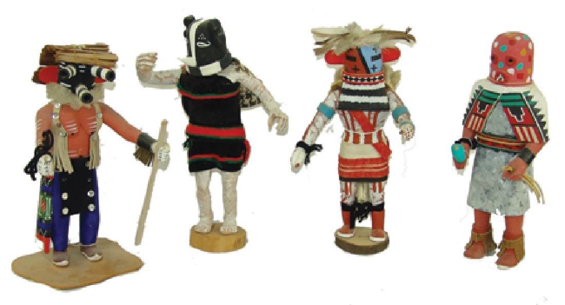 4 Hopi Kachina Carvings