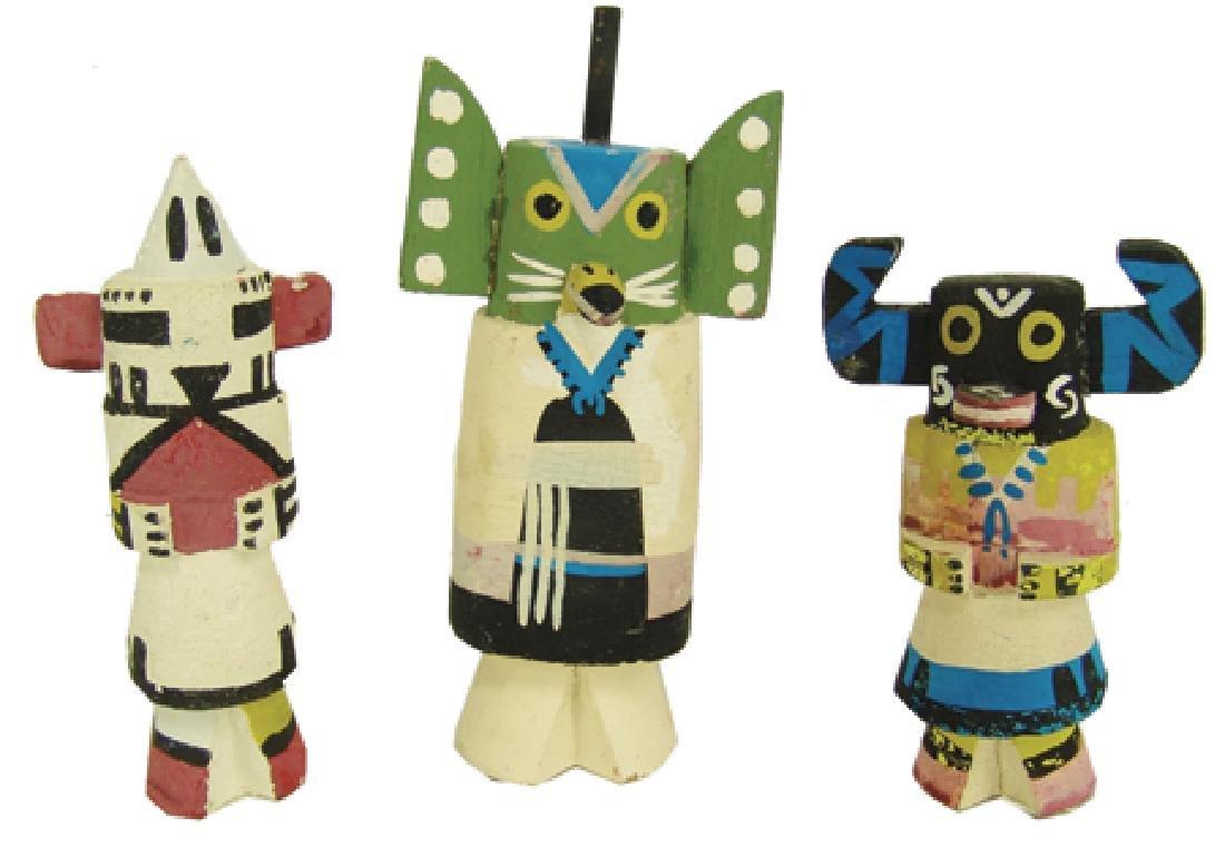 3 Kachina Dolls
