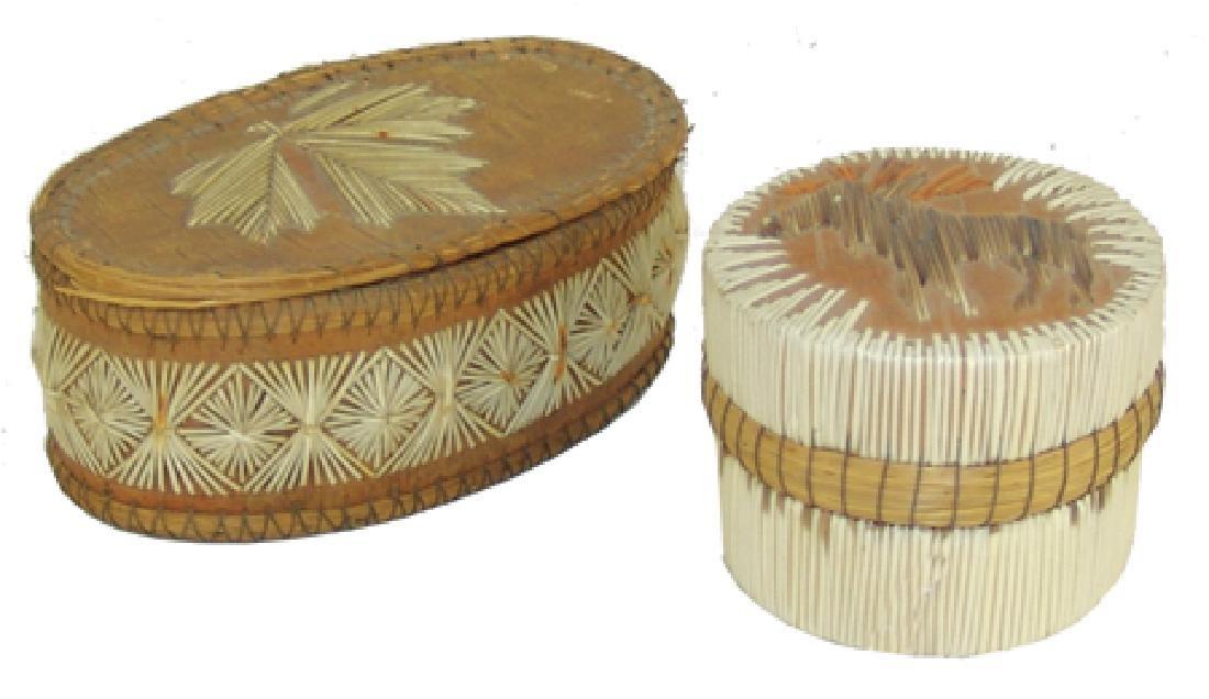 2 Iroquois Baskets