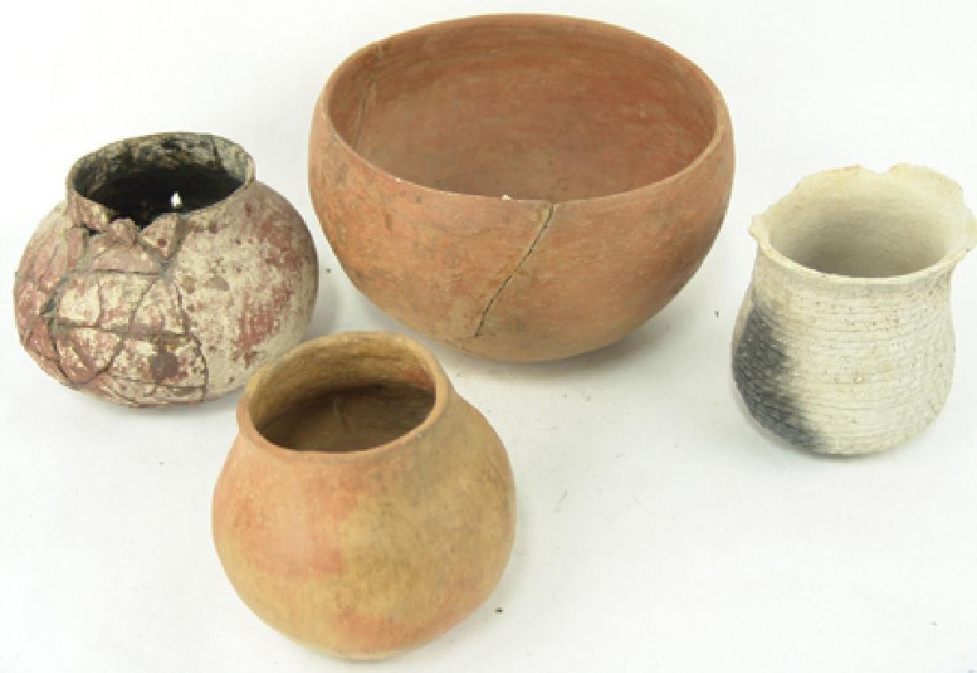 4 Anasazi Pottery Vessels