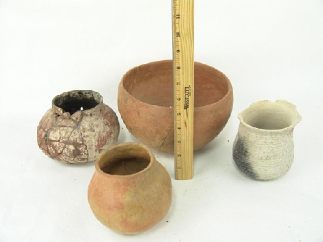 4 Anasazi Pottery Vessels - 2