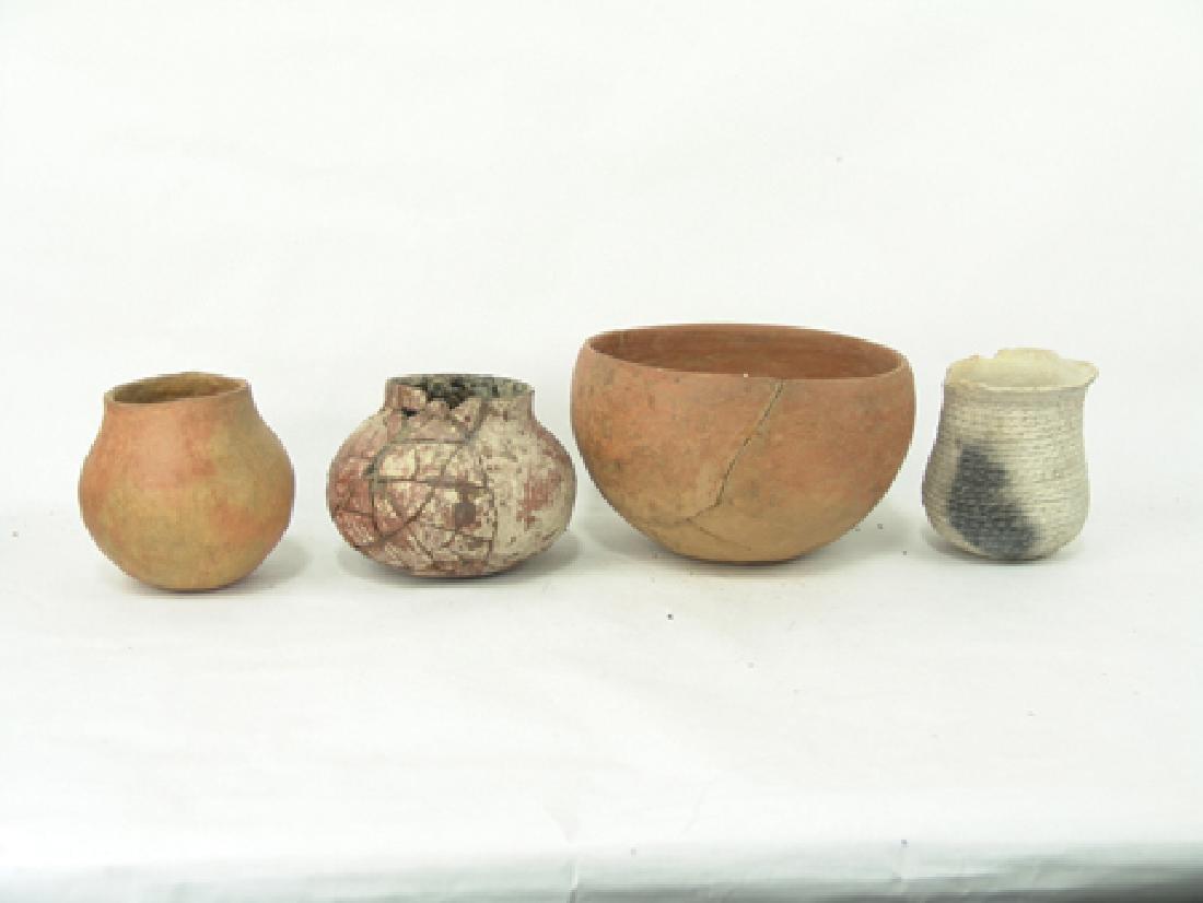 4 Anasazi Pottery Vessels - 3