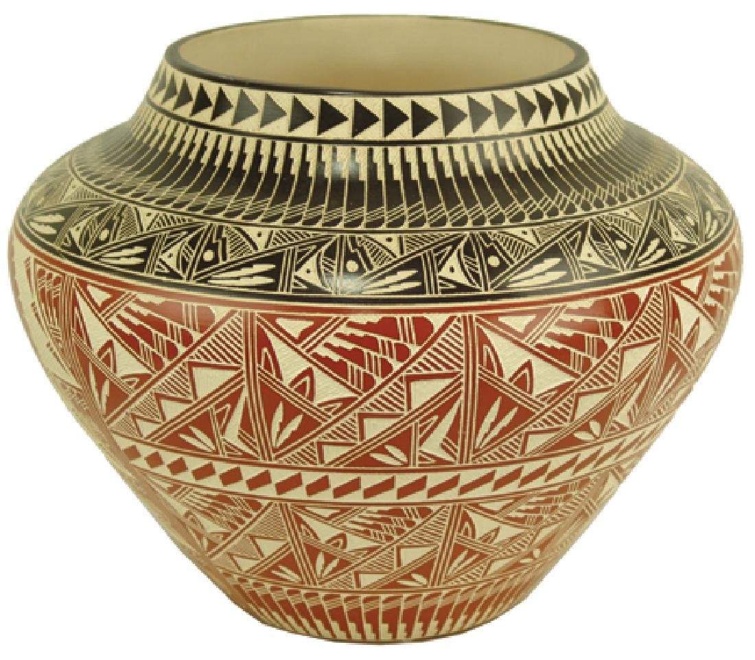 Acoma Pottery Jar - D. Aragon