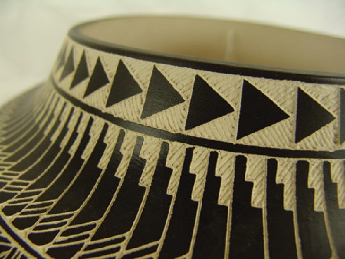 Acoma Pottery Jar - D. Aragon - 4