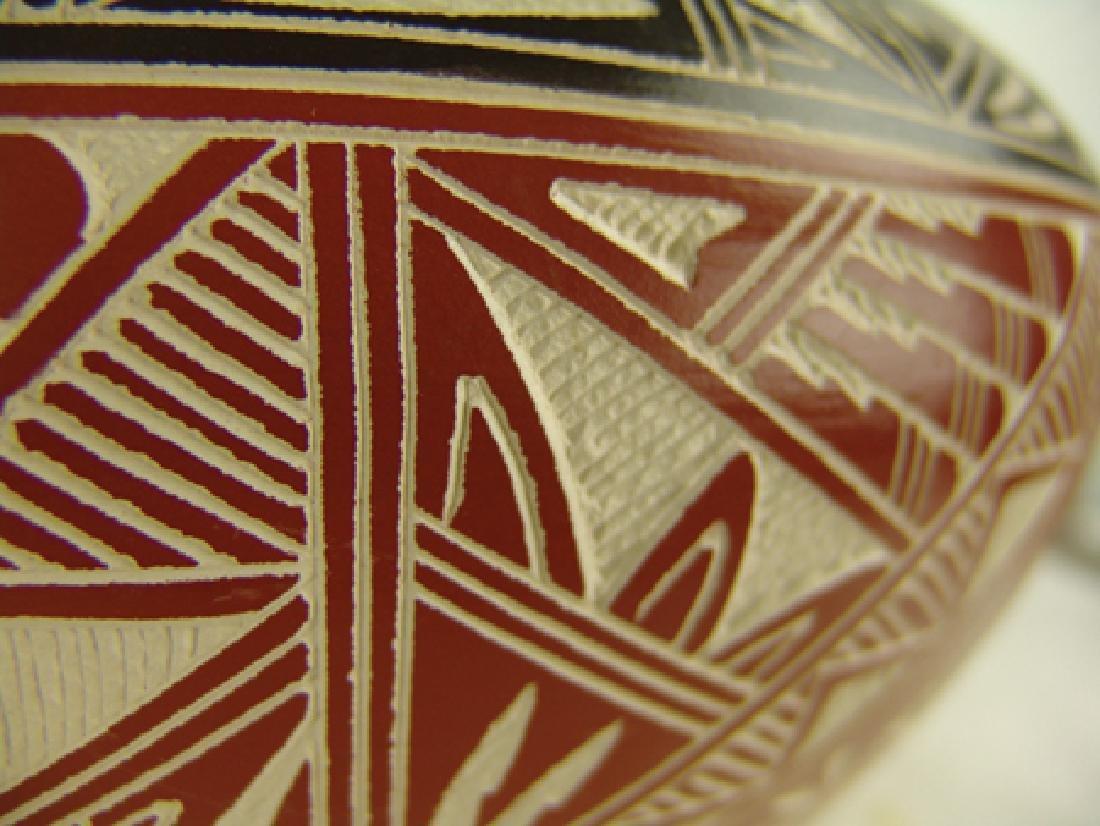 Acoma Pottery Jar - D. Aragon - 5