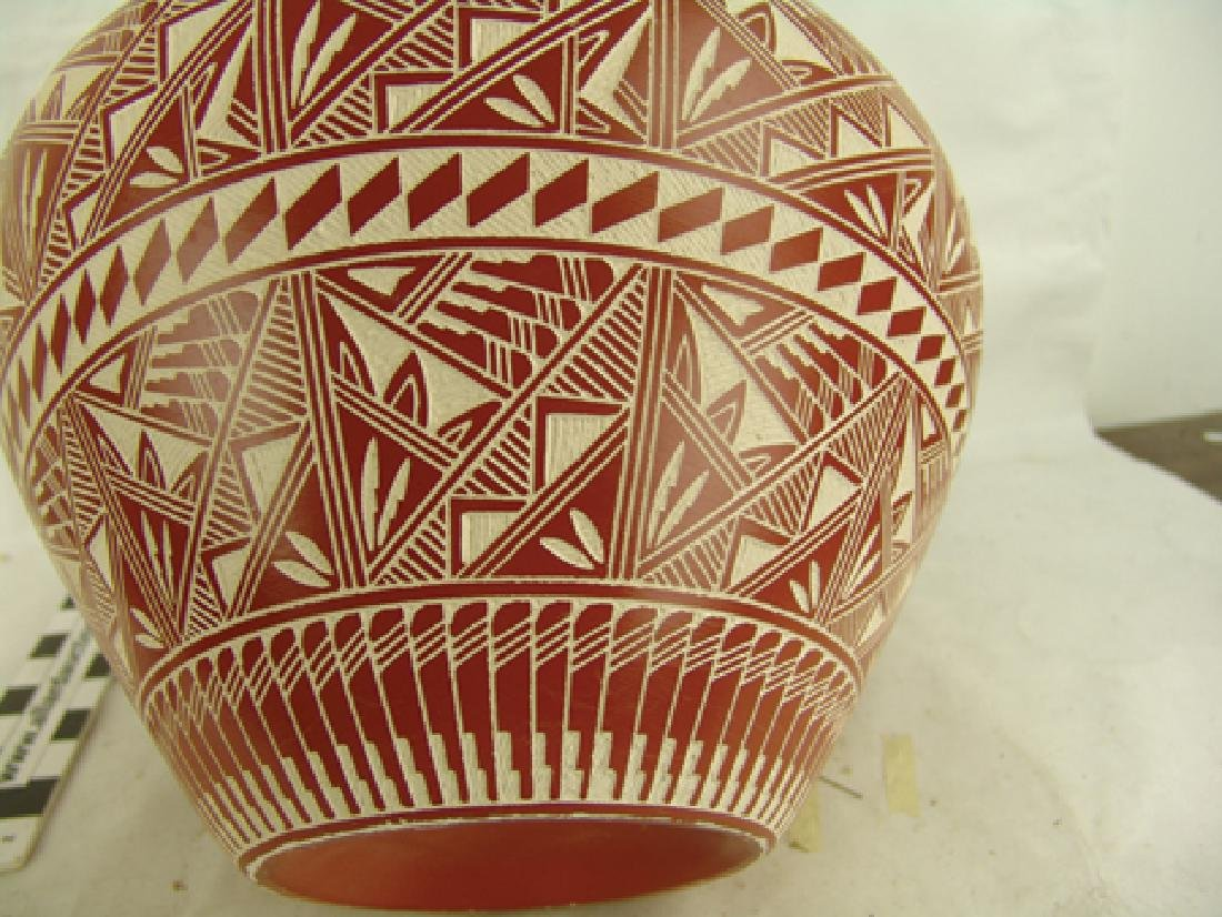 Acoma Pottery Jar - D. Aragon - 6