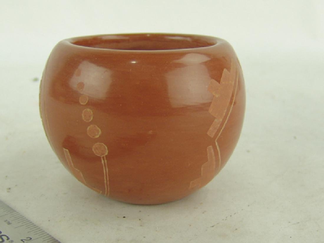 Santa Clara Pottery Bowl -Corn Moquino (1929-2015) - 3
