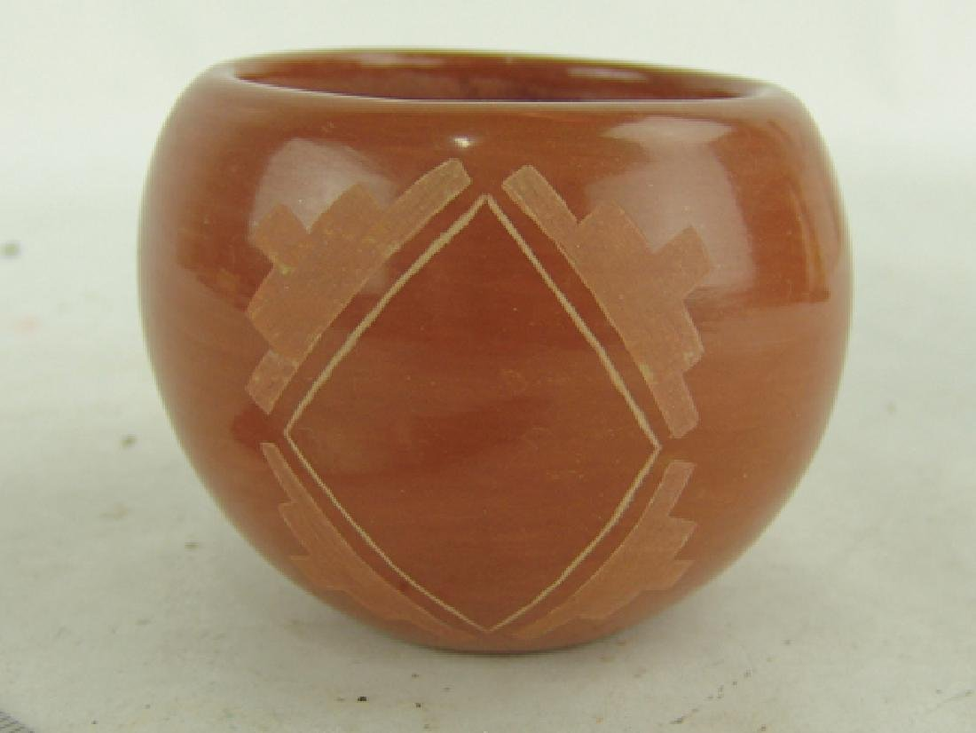 Santa Clara Pottery Bowl -Corn Moquino (1929-2015) - 4