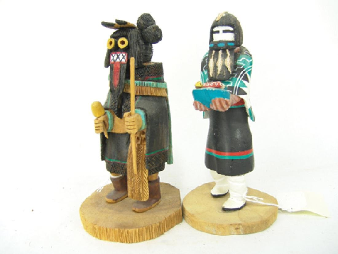 2 Hopi Kachina Carvings