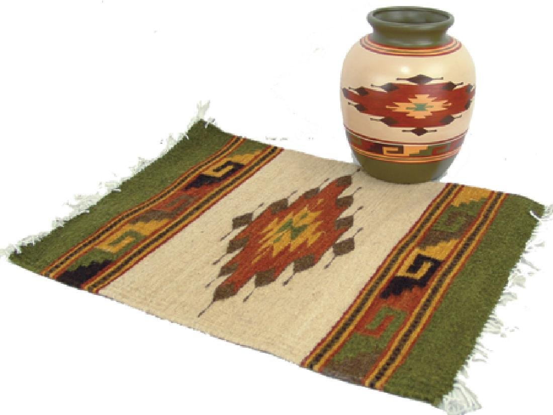 Matching Pot & Rug - Hopi Toad