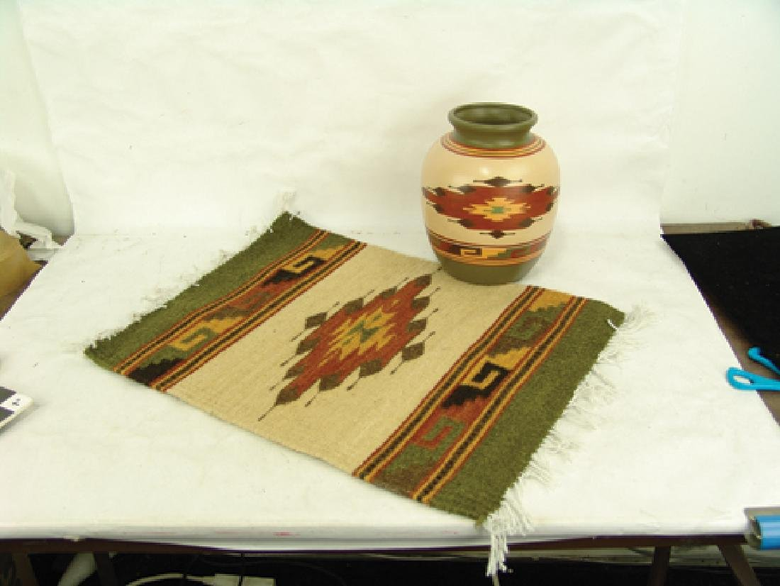 Matching Pot & Rug - Hopi Toad - 2