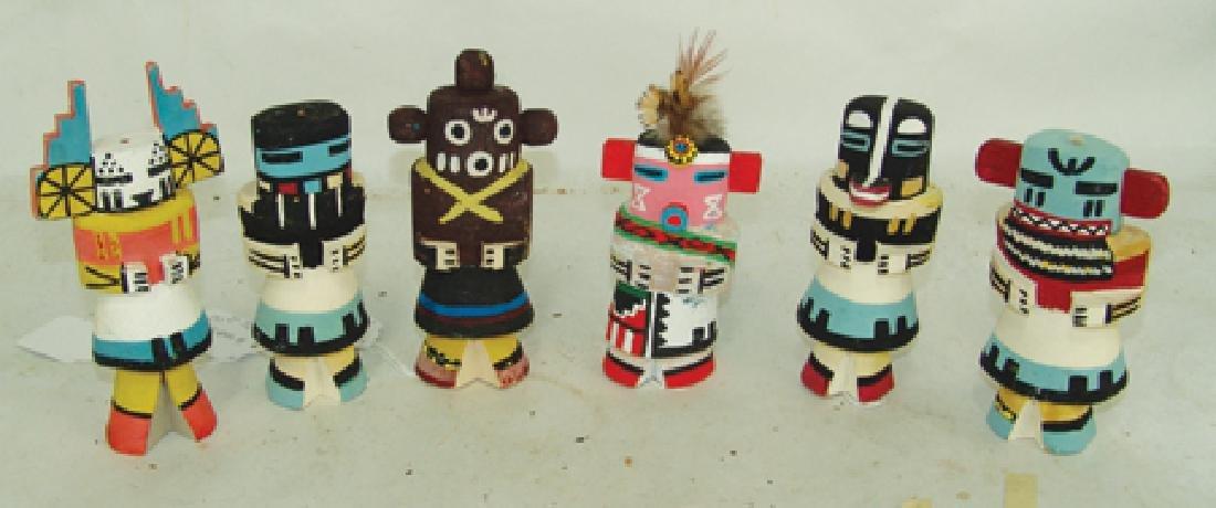 6 Kachina Dolls