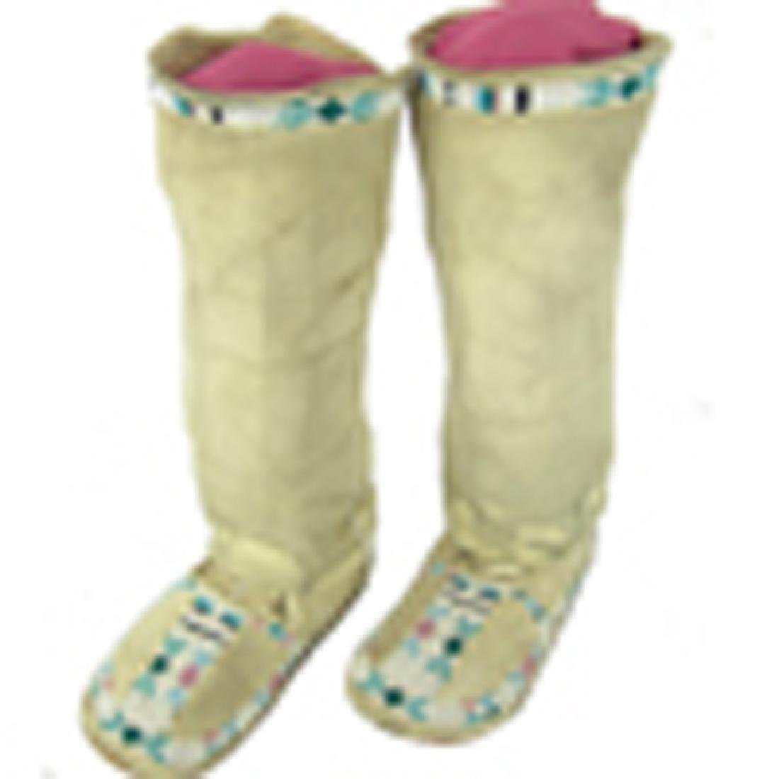 Plateau Beaded Child's Moccasins