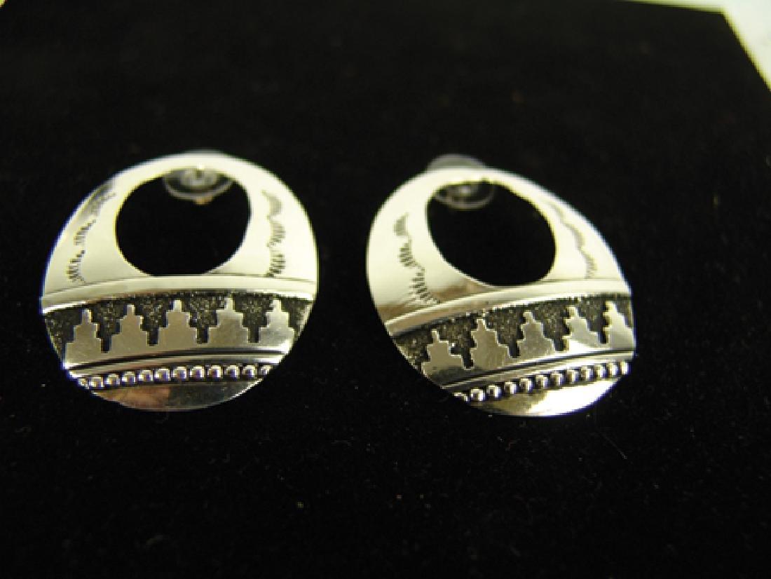 Navajo Bracelet & Earrings-Tommy Singer(1940-2014) - 4