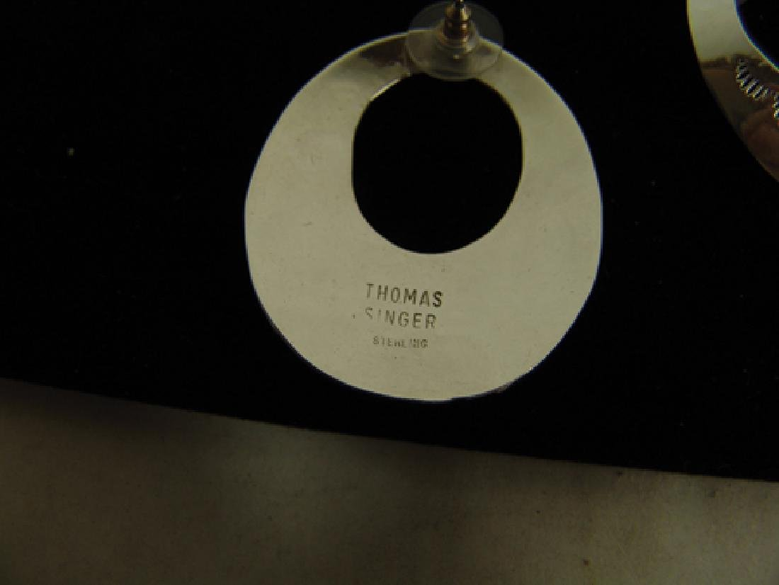 Navajo Bracelet & Earrings-Tommy Singer(1940-2014) - 8