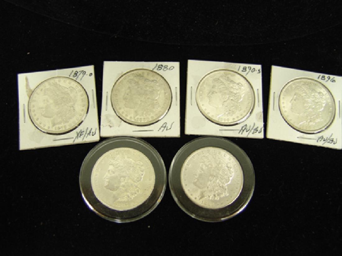 6 U.S. Morgan Silver Dollars - 2