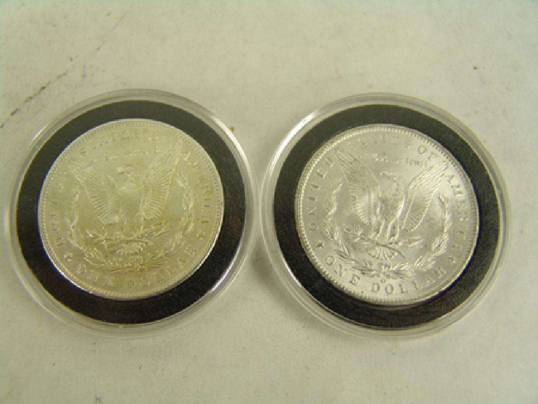 6 U.S. Morgan Silver Dollars - 8